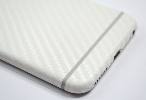 iPhone 6 Plus Two Tone White/Grey CARBON Fibre Skin