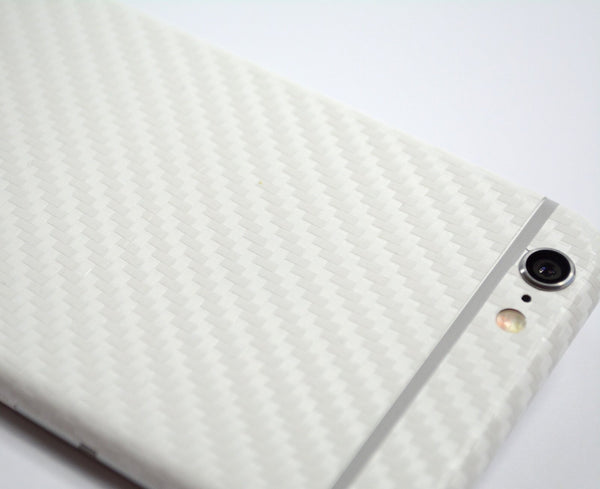 iPhone 6S PLUS Two Tone White/Double Red CARBON Fibre Skin