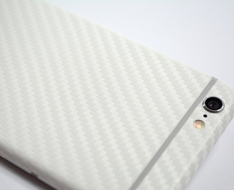 iPhone 6 Two Tone White/Double Red CARBON Fibre Skin