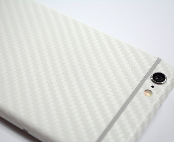iPhone 6S White CARBON Fibre Skin Wrap Sticker Cover Decal Protector by EasySkinz