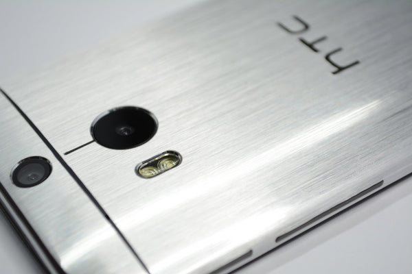 HTC One M8 brushed silver skin