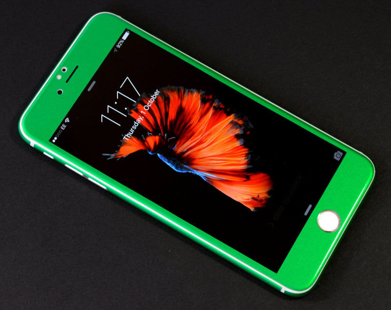 iPhone 6S 3M Glossy Viper Green Tuning Metallic Skin Wrap Sticker Cover Protector Decal by EasySkinz