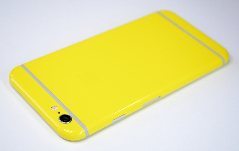 iPhone 6S Colorful GLOSS GLOSSY LEMON YELLOW Skin Wrap Sticker Cover Protector Decal by EasySkinz