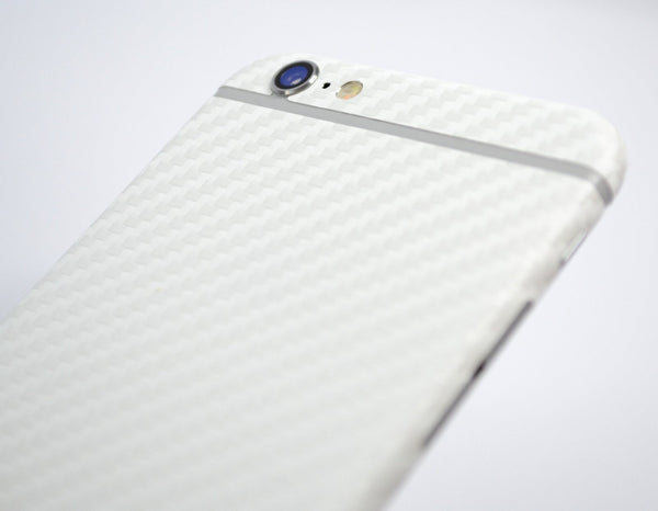 iPhone 6S Two Tone White/Black CARBON Fibre Skin