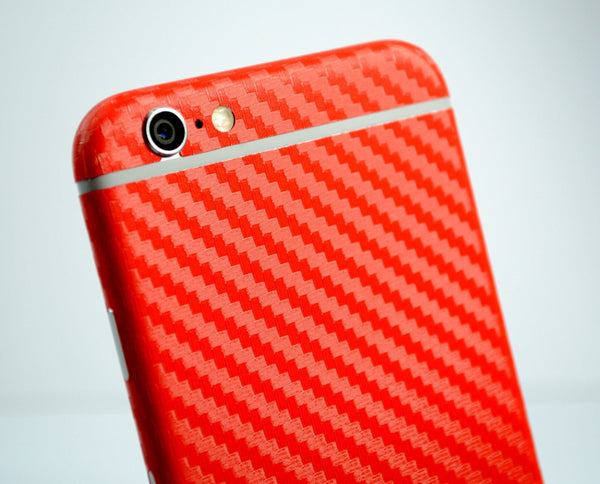 iPhone 6 Red CARBON Fibre Skin Wrap Protector Cover Decal Sticker by EasySkinz