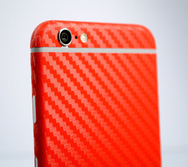 iPhone 6 Plus Red CARBON Fibre Skin Wrap Protector Cover Decal Sticker by EasySkinz