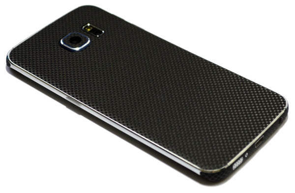 Samsung Galaxy S6 EDGE+ PLUS MICRO 3D CARBON Fibre BLACK Skin Wrap Sticker Cover Decal Protector by EasySkinz