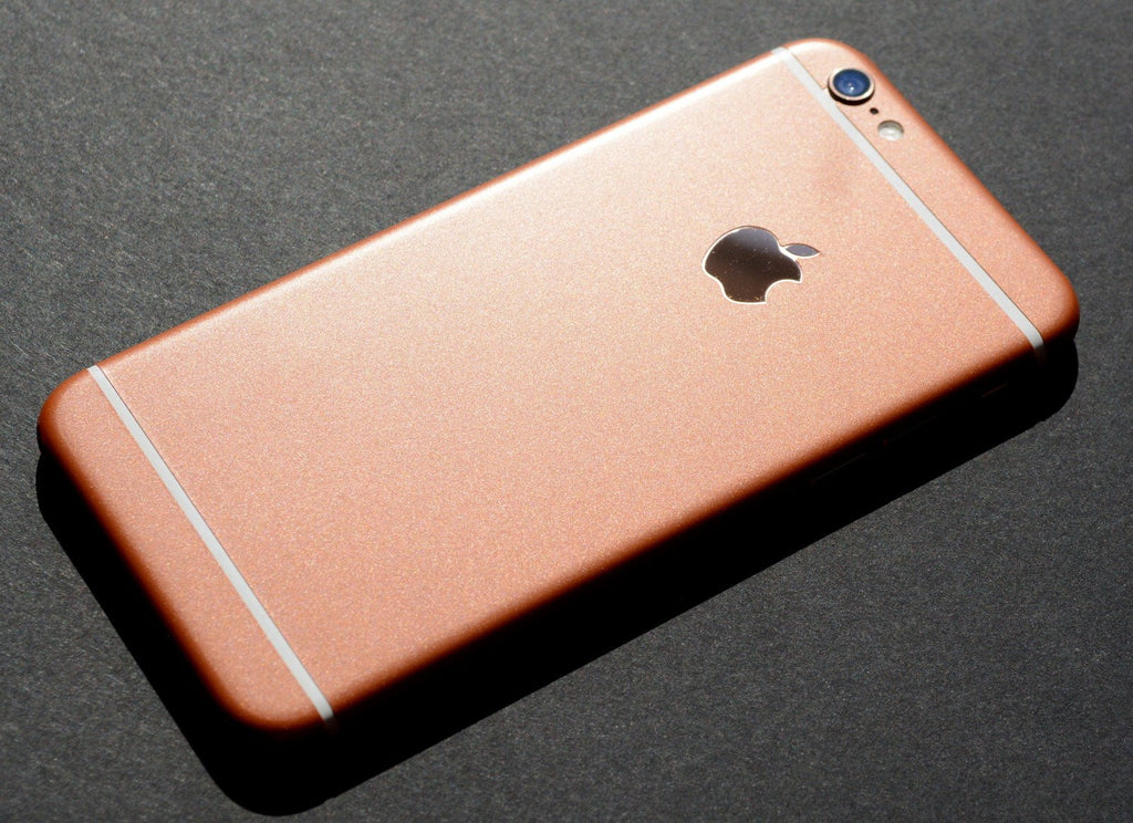 iphone 6 plus rose gold matt metallic skin wrap decal easyskinz. Black Bedroom Furniture Sets. Home Design Ideas