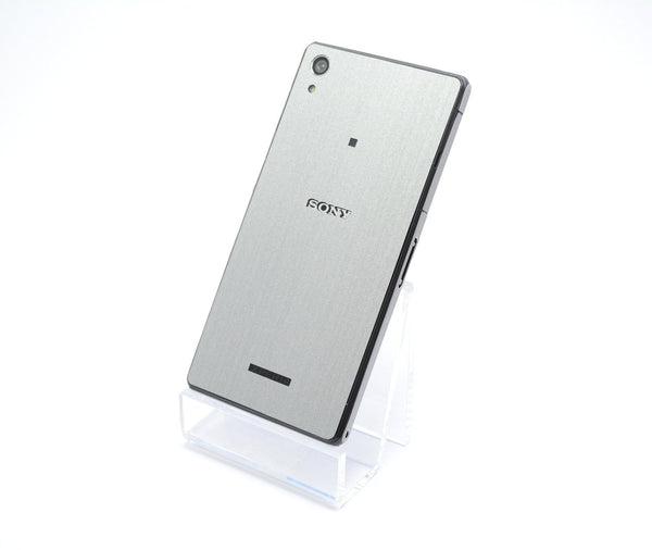 Sony Xperia Z2 brushed metal silver sticker