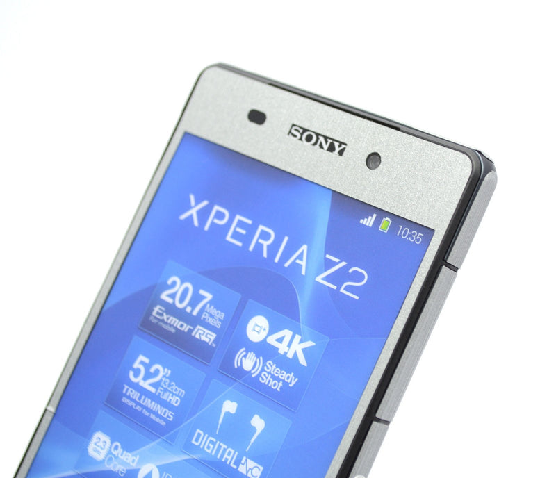 Sony Xperia Z2 brushed silver wrap