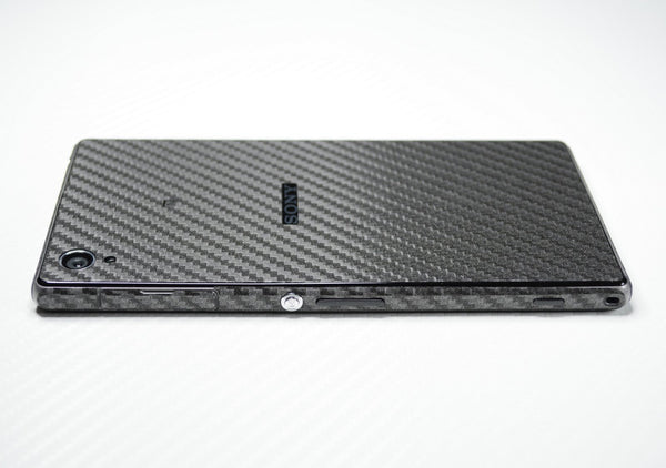 sony xperia z1 metallic grey carbon fibre skin cover