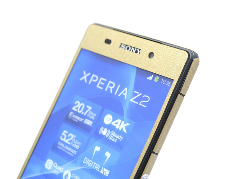 Sony Xperia Z2 brushed gold metal wrap
