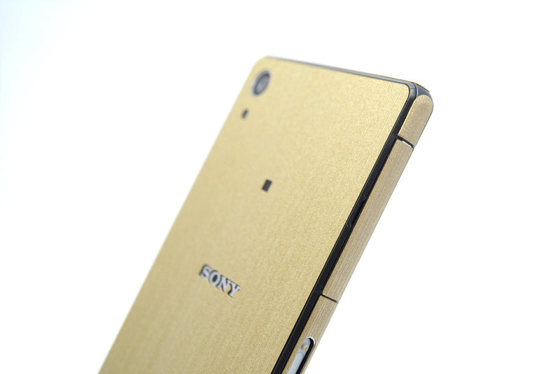 Sony Xperia Z2 brushed gold sticker