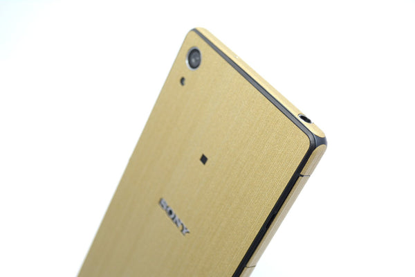 Sony Xperia Z2 brushed gold skin