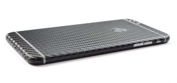 iPhone 6 Plus Black CARBON Fibre Skin Wrap Sticker Cover Decal Protector