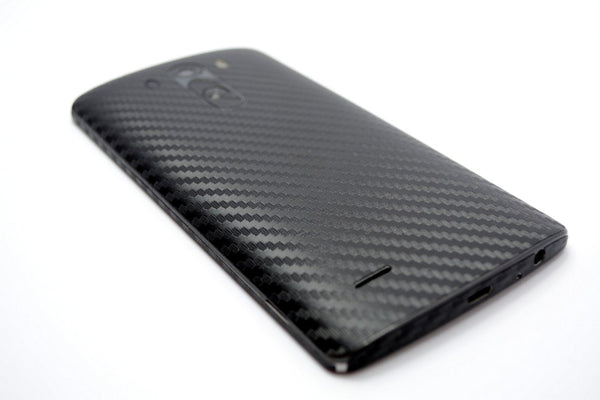 LG G3 Black CARBON Fibre Skin Sticker Wrap Cover
