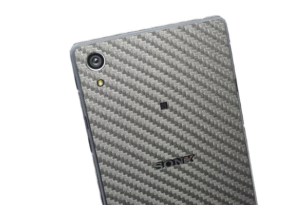 Sony Xperia Z2 metallic grey carbon sticker