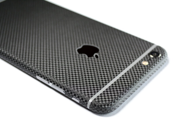iPhone 6 Plus Black Micro 3D Textured CARNON Fibre Skin Wrap Sticker Cover Decal Protector