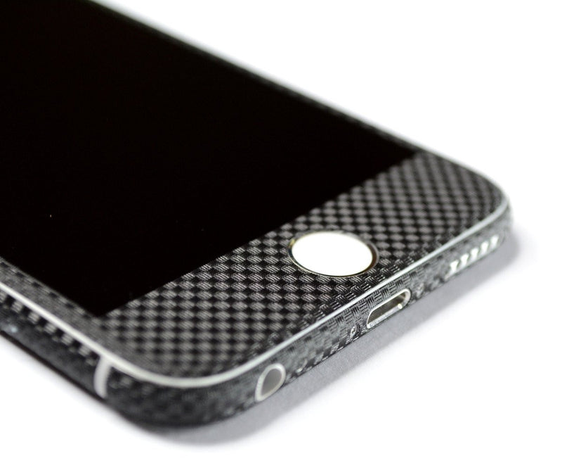 iPhone 6S PLUS MICRO 3D CARBON Fibre BLACK Skin Wrap Sticker Cover Decal Protector