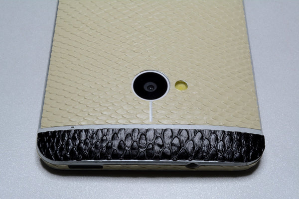 HTC ONE M7 3D Luxury Mamba SNAKE Effect TWO TONE Wrap Decal Sticker Skin