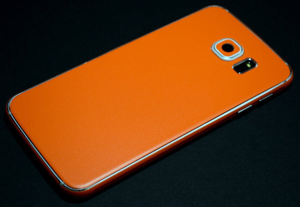Samsung Galaxy S6 Orange Matt Matte Skin Wrap Sticker Cover Protector Decal by EasySkinz