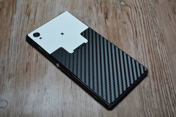 sony xperia z1 custom design carbon fibre skin cover