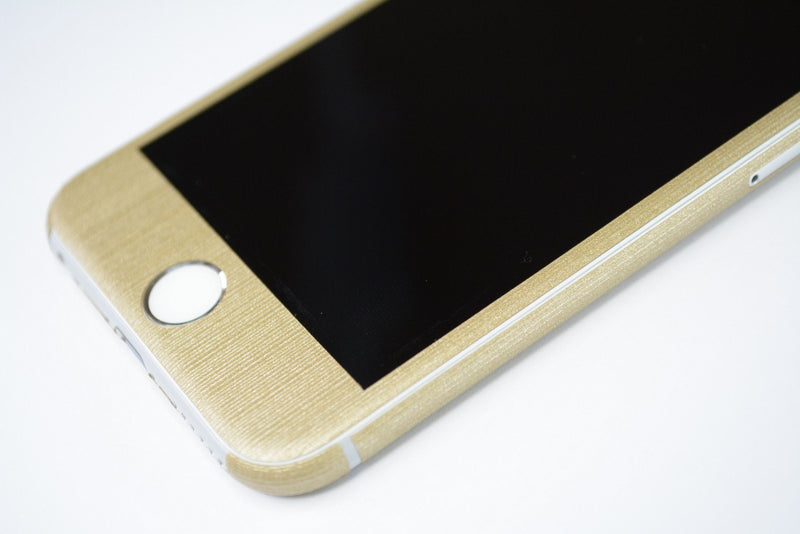 iPhone 6 Premium Brushed Champagne GOLD Skin Wrap Sticker Cover Decal Protector by EasySkinz