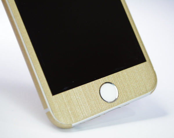 iPhone 6 Plus Premium Brushed Champagne GOLD Skin Wrap Sticker Cover Decal Protector by EasySkinz