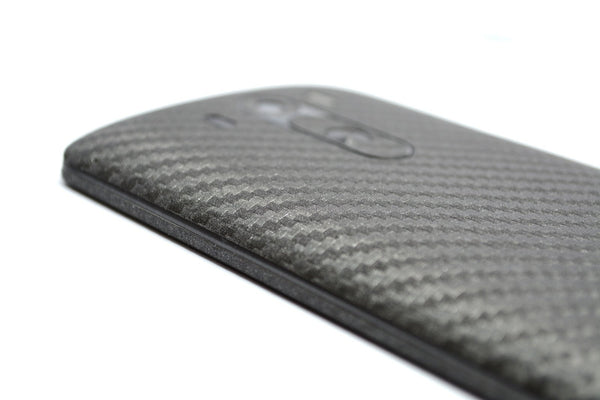 LG G3 Metallic Grey CARBON Fibre Skin Sticker Wrap Cover