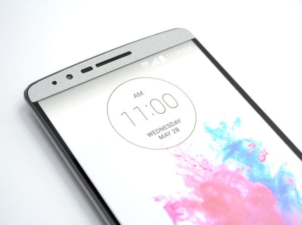 LG G3 Brushed SILVER Sticker Skin Wrap Cover Decal