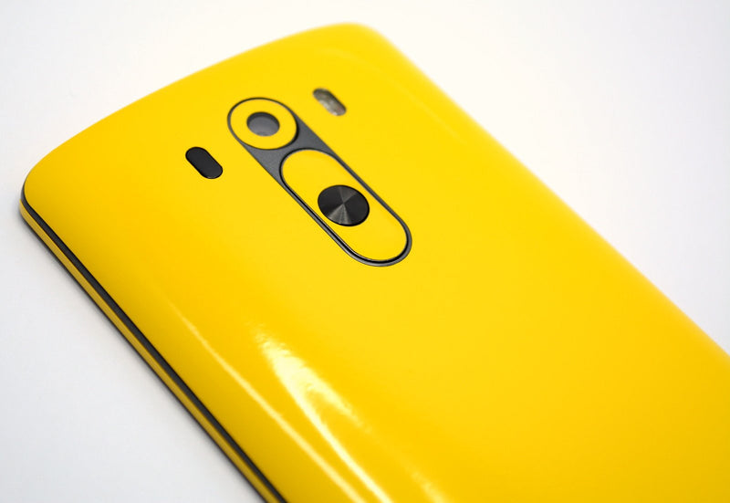 LG G3 Glossy Golden Yellow Skin Sticker Wrap Cover Decal Protector