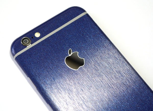 iPhone 6 Plus 3M Brushed Steel Blue Metallic Skin Wrap Sticker Cover Protector Decal by EasySkinz