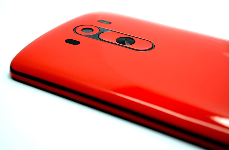 LG G3 Glossy Bright Red Skin Sticker Wrap Cover Decal Protector
