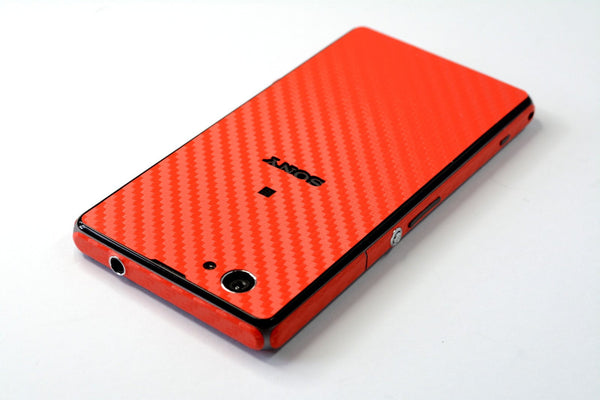Sony Xperia Z1 Compact RED CARBON Fibre Skin Wrap Cover