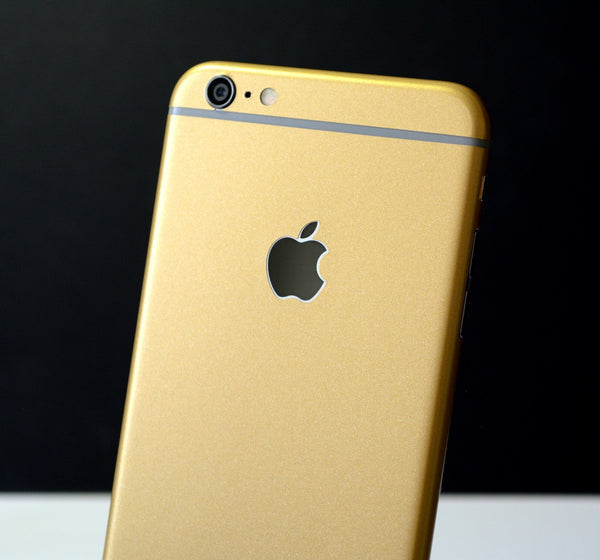 iPhone 6 Matt Matte GOLD Metallic Skin Wrap Sticker Cover Protector Decal by EasySkinz