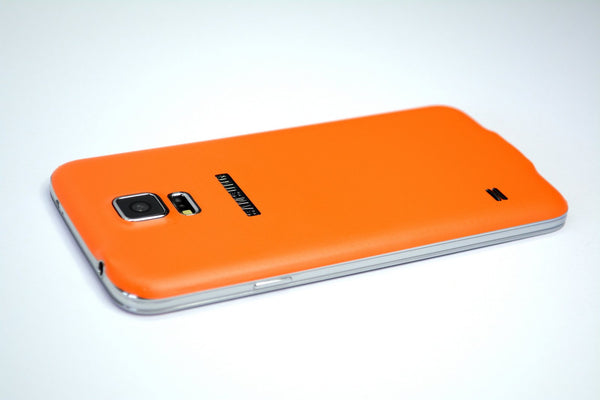 Samsung Galaxy S5 orange skin