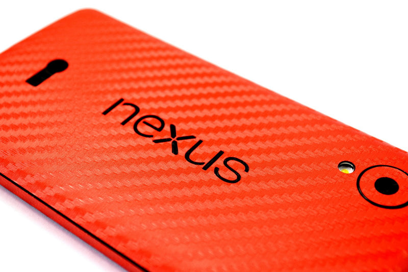 LG Google Nexus 5 red carbon decal