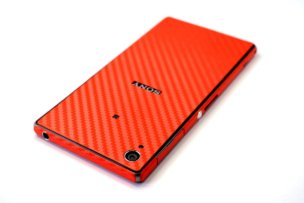 SONY Xperia Z1 red carbon fibre skin cover