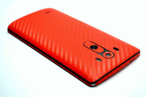 LG G3 RED CARBON Fibre Skin Sticker Wrap Cover