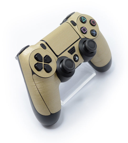 ps4 controller brushed champagne gold skin