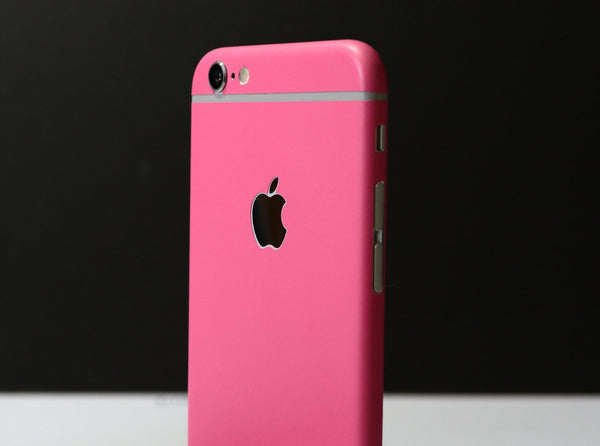 iPhone 6 Colorful PINK MATT Skin Wrap Sticker Cover Protector Decal by EasySkinz
