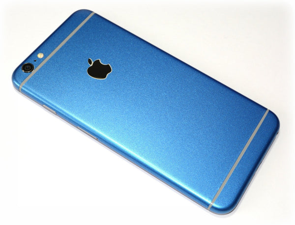 iPhone 6 Colorful Matt Azure Blue Metallic Skin Wrap Sticker Cover Protector Decal by EasySkinz