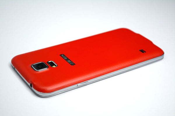 Samsung Galaxy S5 red skin