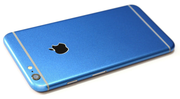 iPhone 6 Plus Colorful Matt Azure Blue Metallic Skin Wrap Sticker Cover Protector Decal by EasySkinz
