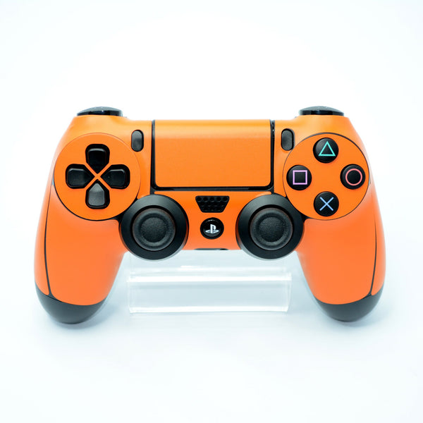 ps4 controller orange matt skin