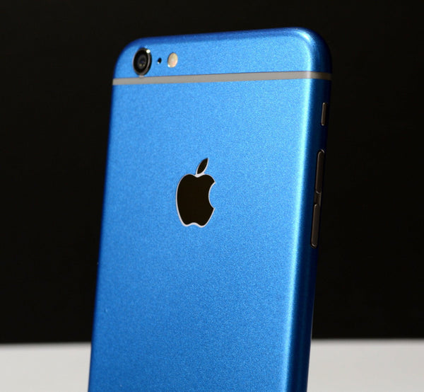iPhone 6S PLUS Colorful Matt Azure Blue Metallic Skin Wrap Sticker Cover Protector Decal by EasySkinz