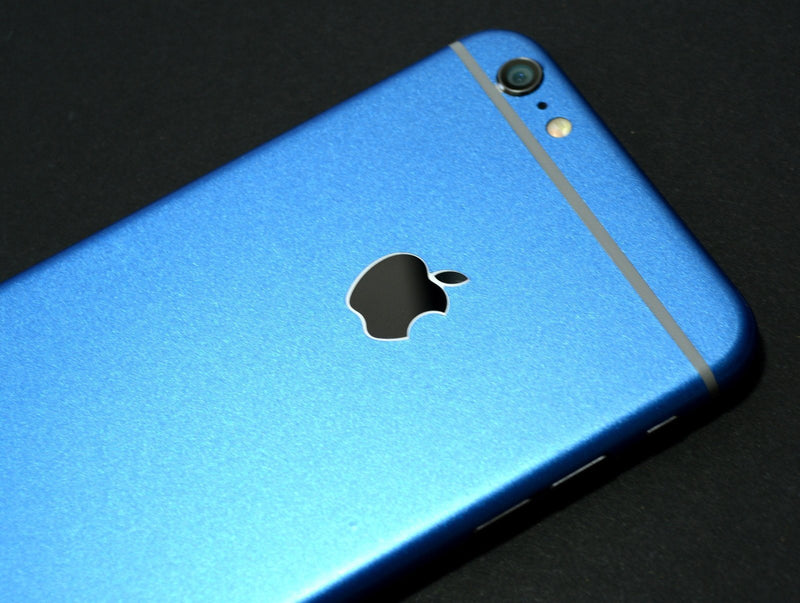iPhone 6 Plus Colorful Glossy Azure Blue Metallic Skin Wrap Sticker Cover Protector Decal by EasySkinz