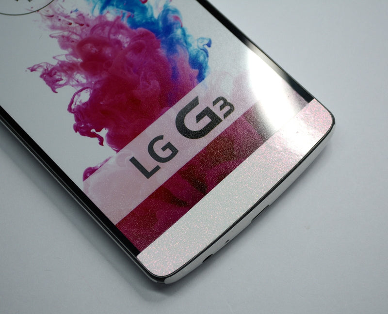 LG G3 Stardust Delicate Pink Skin Sticker Wrap Cover Decal