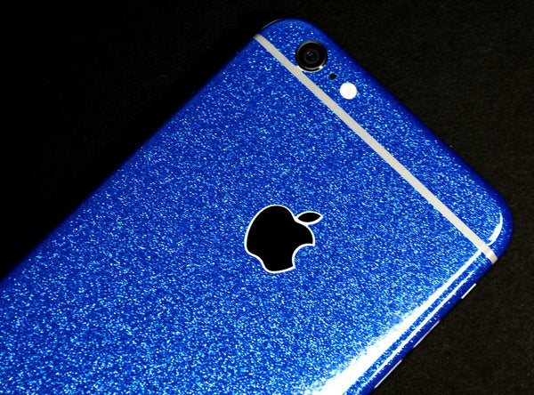 iPhone 6 PLUS Diamond BLUE Shimmering Glitter Skin Wrap Sticker Cover Decal Protector by EasySkinz