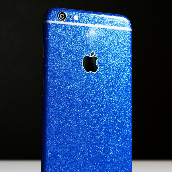 iPhone 6 Diamond BLUE Shimmering Glitter Skin Wrap Sticker Cover Decal Protector by EasySkinz